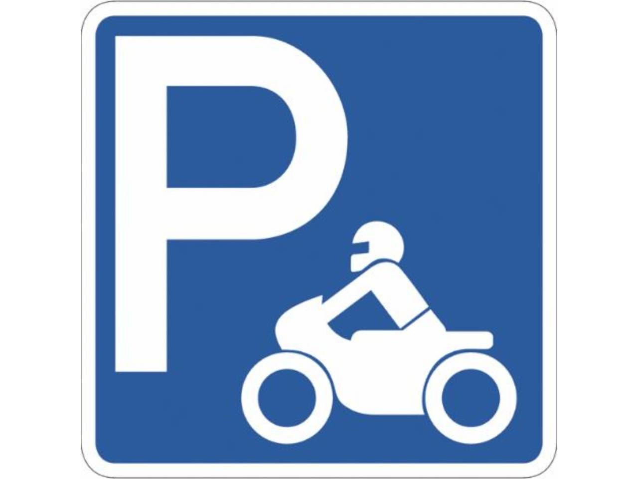 Plaza de parking para moto